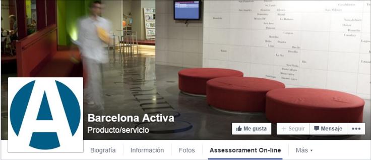 Agencia de Desarrollo Local del Ayuntamiento de Barcelona. Ofrece en una de las pestañas del panel de cabecera una APP con asesoramiento online. Click en la imagen para acceder.