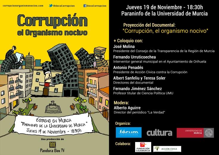Cartel Corrupción organismo nocivo murcia