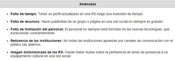 Oportunidades y amenazas de la presencia en redes sociales de las bibliotecas públicas (Por Daniel García). Pincha en la imagen para ampliar.