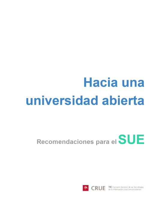 CRUE Universidad Abierta