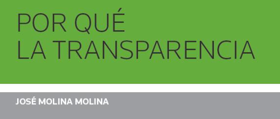 Portada Por Qué La Transparencia Aranzadi J. Molina